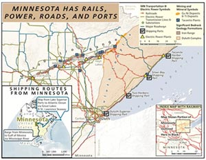 Minnesota Minerals Coordinating Committee - Us iron mines map